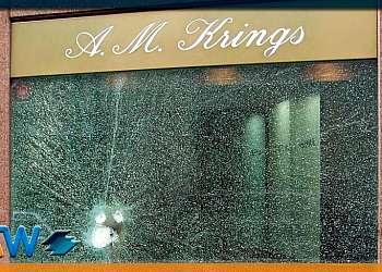 Película para vitrine de loja